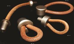 poignée de meuble boucle cuir nature nickel voor glazen kastdeur a211c3b509e